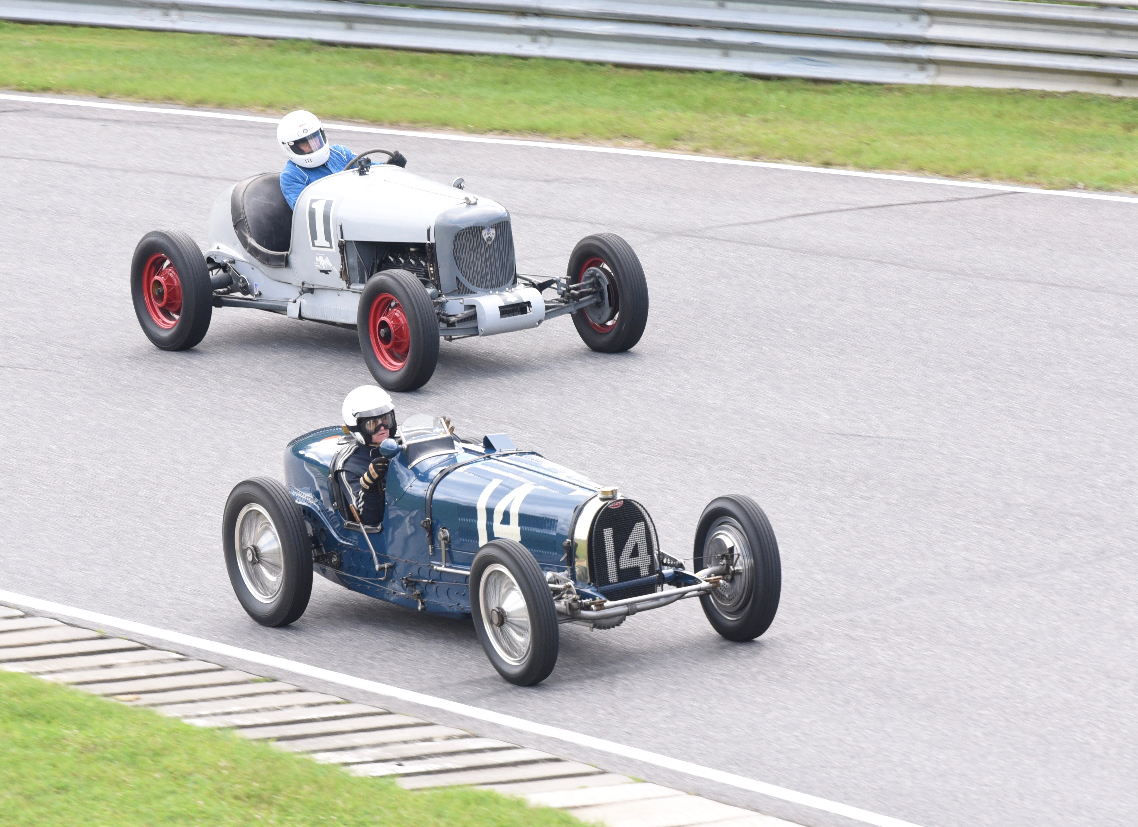 <strong>Pre-1939 cars and drivers took to the track for fierce competition at the Lime Rock Historic Festival weekend.<em>Photoby Lans Christensen</em></strong>