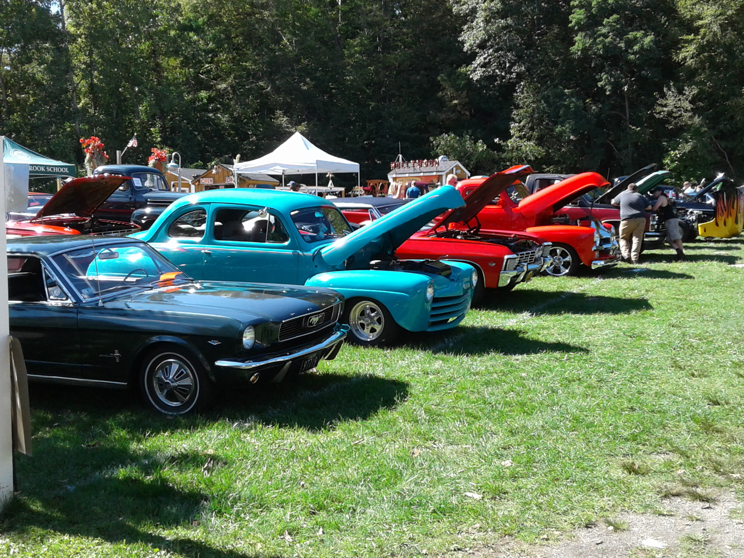 <strong>From 10 a.m. to 2 p.m., local residents and visitors to the area wandered up and down the rows of cars on display in this year's Lions Club Community Classic Car Show, pausing to admire the different models and chat with the vehicles' owners.<em>Photoby Kaitlin Lyle</em></strong>