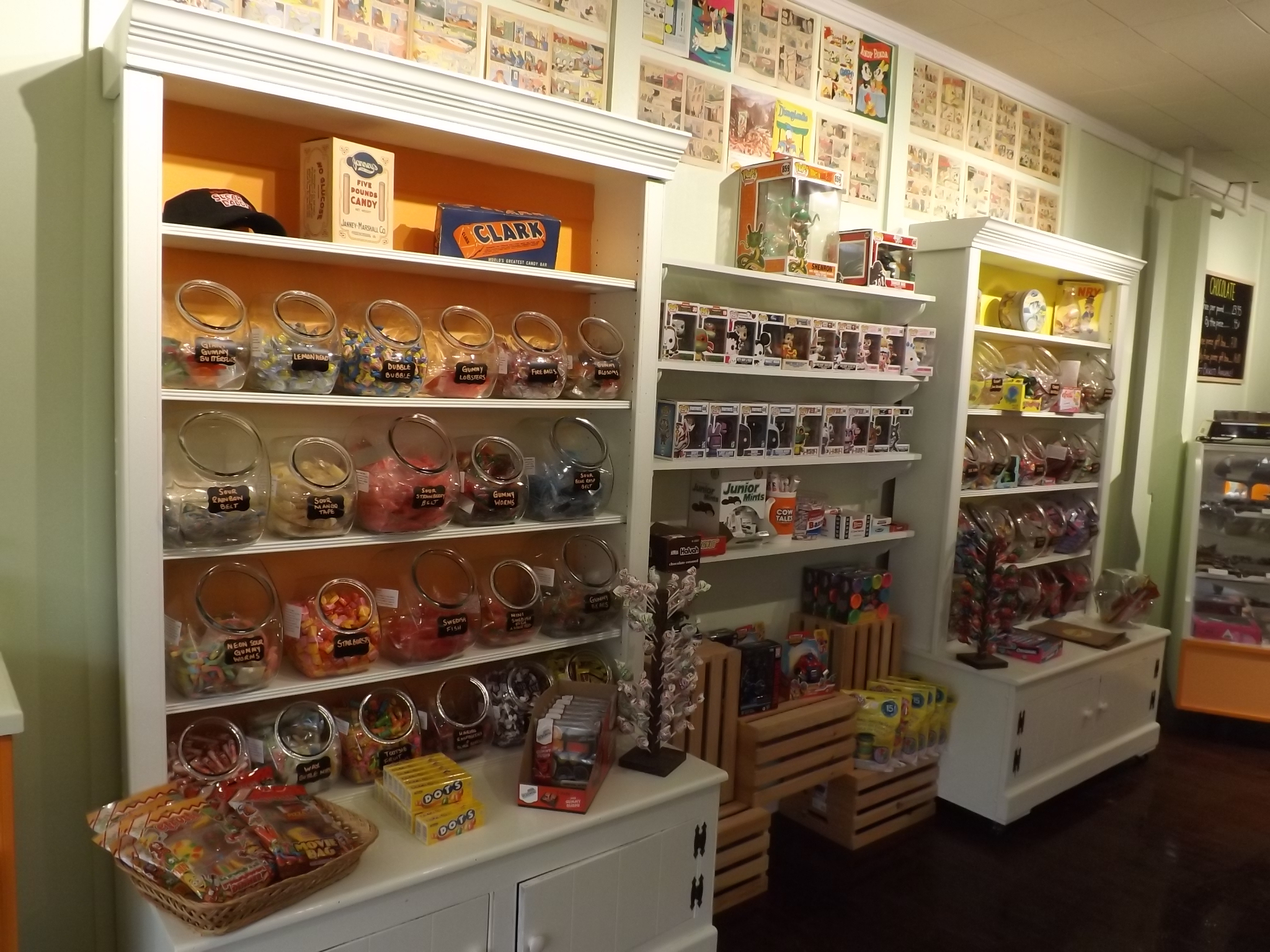 <strong>From Dubble Bubble, Starburst and Dots to candy necklaces, Nerds, Laffy Taffy and more, the shelves at Candy-O's are stocked with an immense variety of nostalgic and modern candies. <em>Photo by Kaitlin Lyle</em></strong>