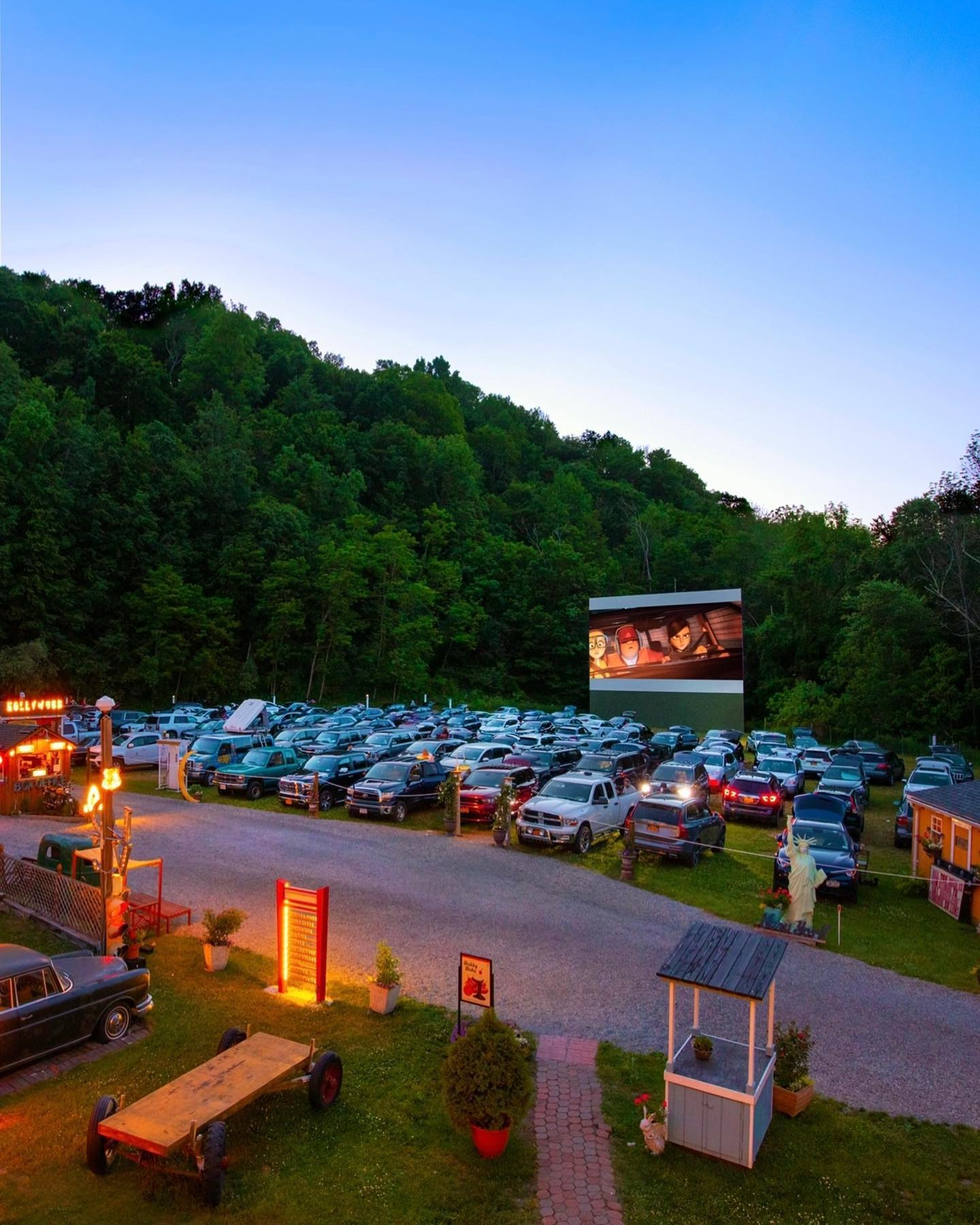 <strong>Located at 4957 Route 22 in Amenia, the Four Brothers Drive-In Theatre has welcomed familiar and new faces alike this summer for a variety of activities, including movies, music, mini-golf and much more.<em>Photos courtesy of Four Brothers Drive-In.</em></strong>