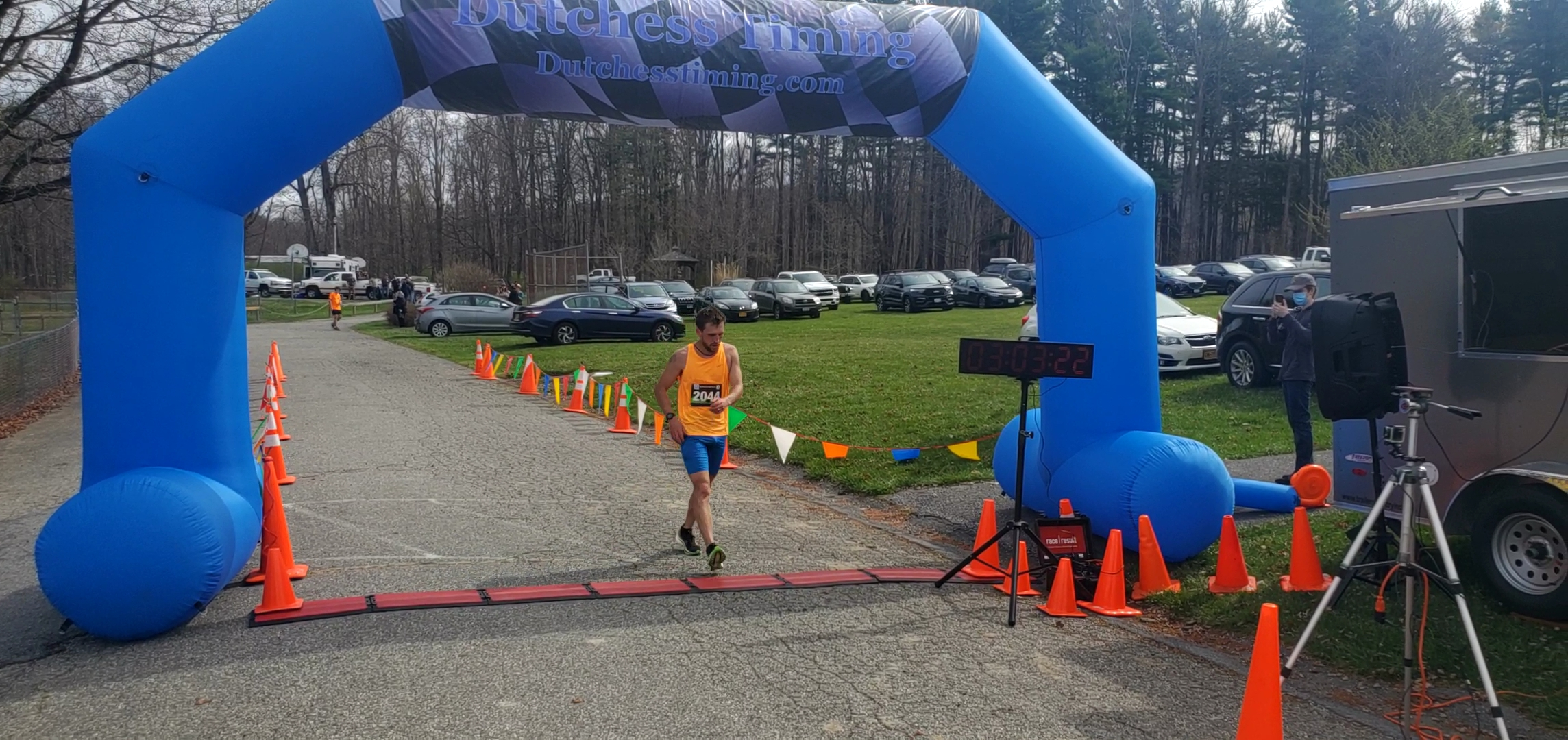 <strong>The first-place male finisher of the Millbrook Marathon was Reid McGrath, who finished with a time of 3:03:23.</strong><em><strong>Photoby Judith O'Hara Balfe</strong></em>