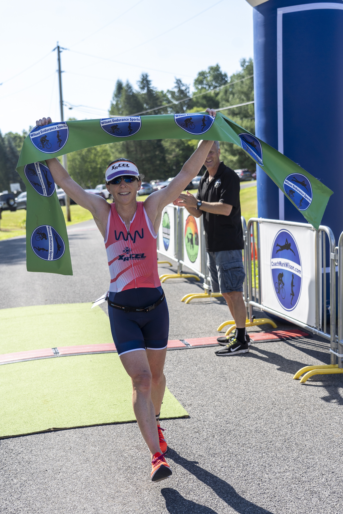 <strong>With a time of 1 hour, 16 minutes and 9 seconds, Rebecca Wassner from New Paltz crossed the finish line as one of the top three female competitors in last year's Stissing Triathlon. <em>Archived photo by Kaitlin Lyle</em></strong>