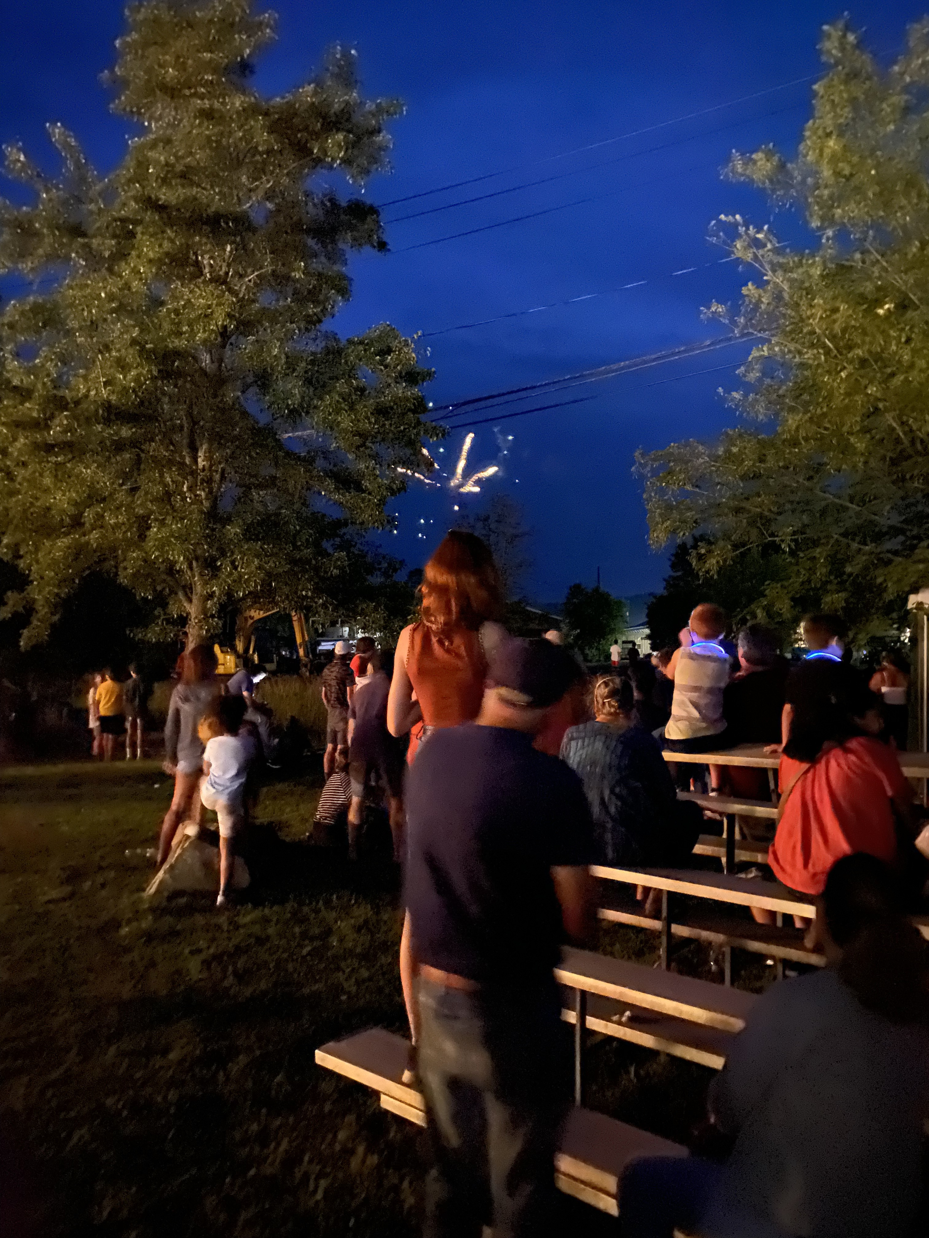 <strong>The fireworks were also scheduled for July 17 and were also delayed by rain. The weather on July 24 was perfect, with a lightly cloudy sky providing a perfect backdrop.<em>Photoby Cynthia Hochswender</em></strong>