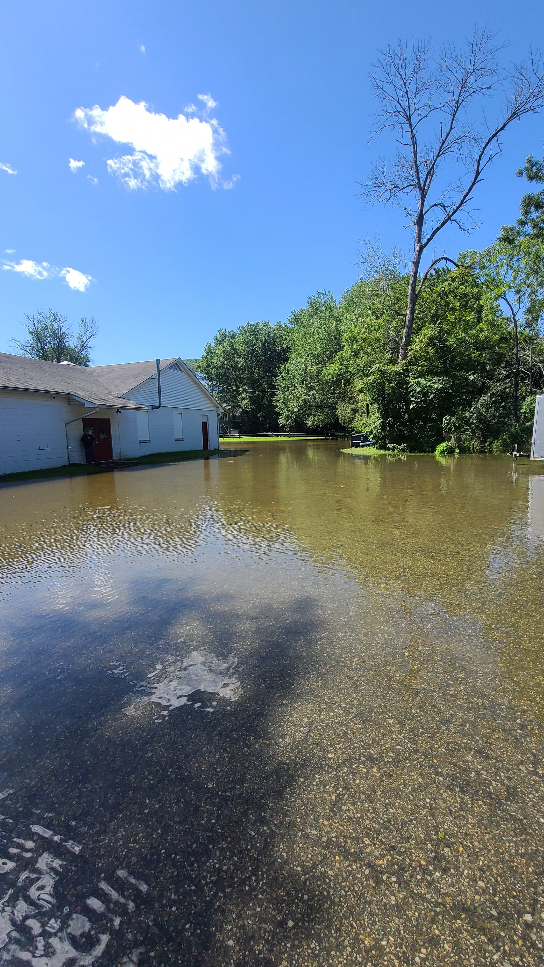 <strong>In the aftermath of Hurricane Ida and the downpour of rain and wind, the Wassaic firehouse flooded on Thursday, Sept. 2. <em>Photo submitted</em></strong>