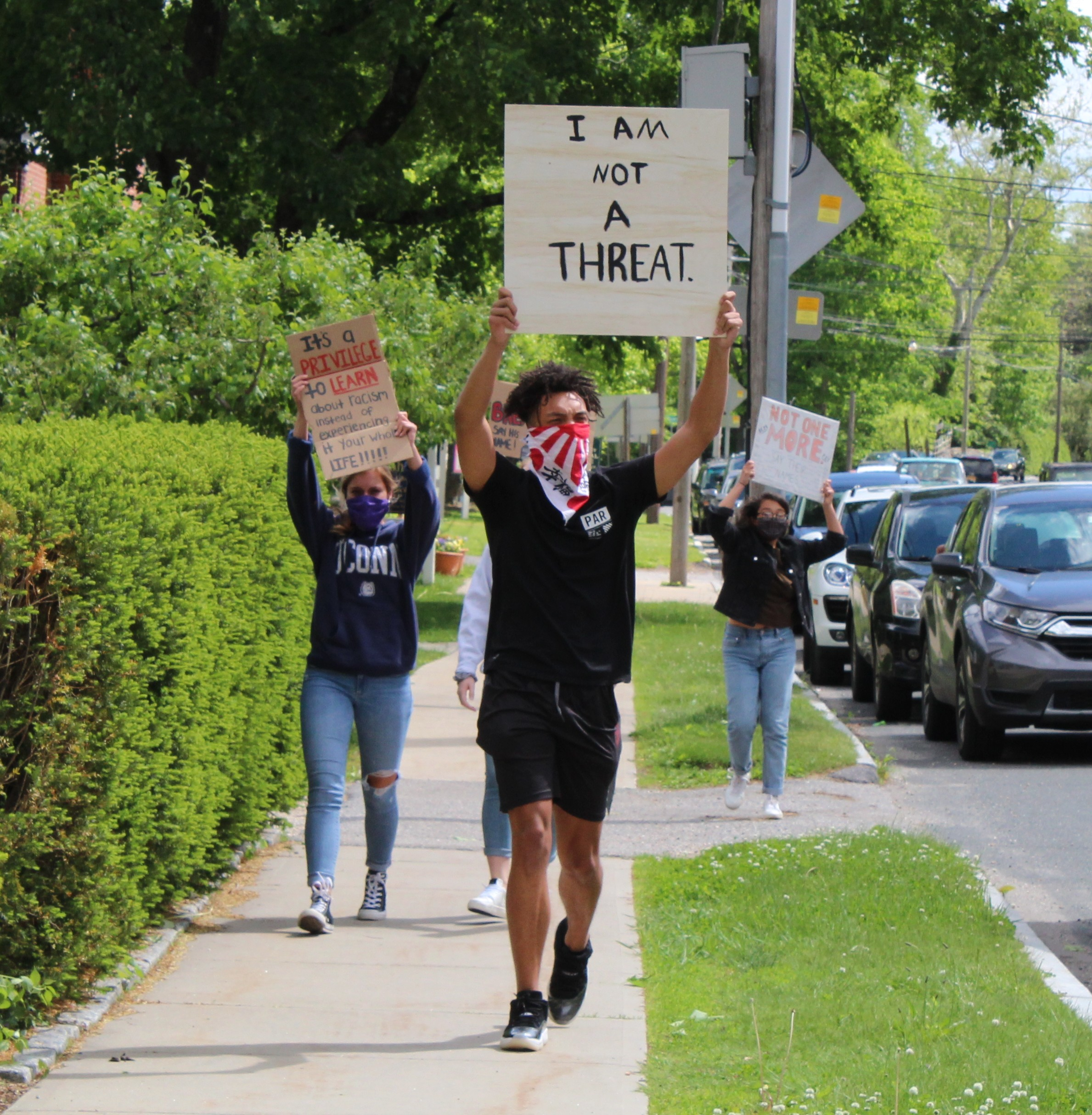 <strong>The youth-led protest brought out residents of all ages to fill the Salisbury Green on Sunday, May 31, in a peaceful demonstration against police brutality and the homicide of George Floyd in Minneapolis, Minn.<em>Photo by Patrick L Sullivan</em></strong>