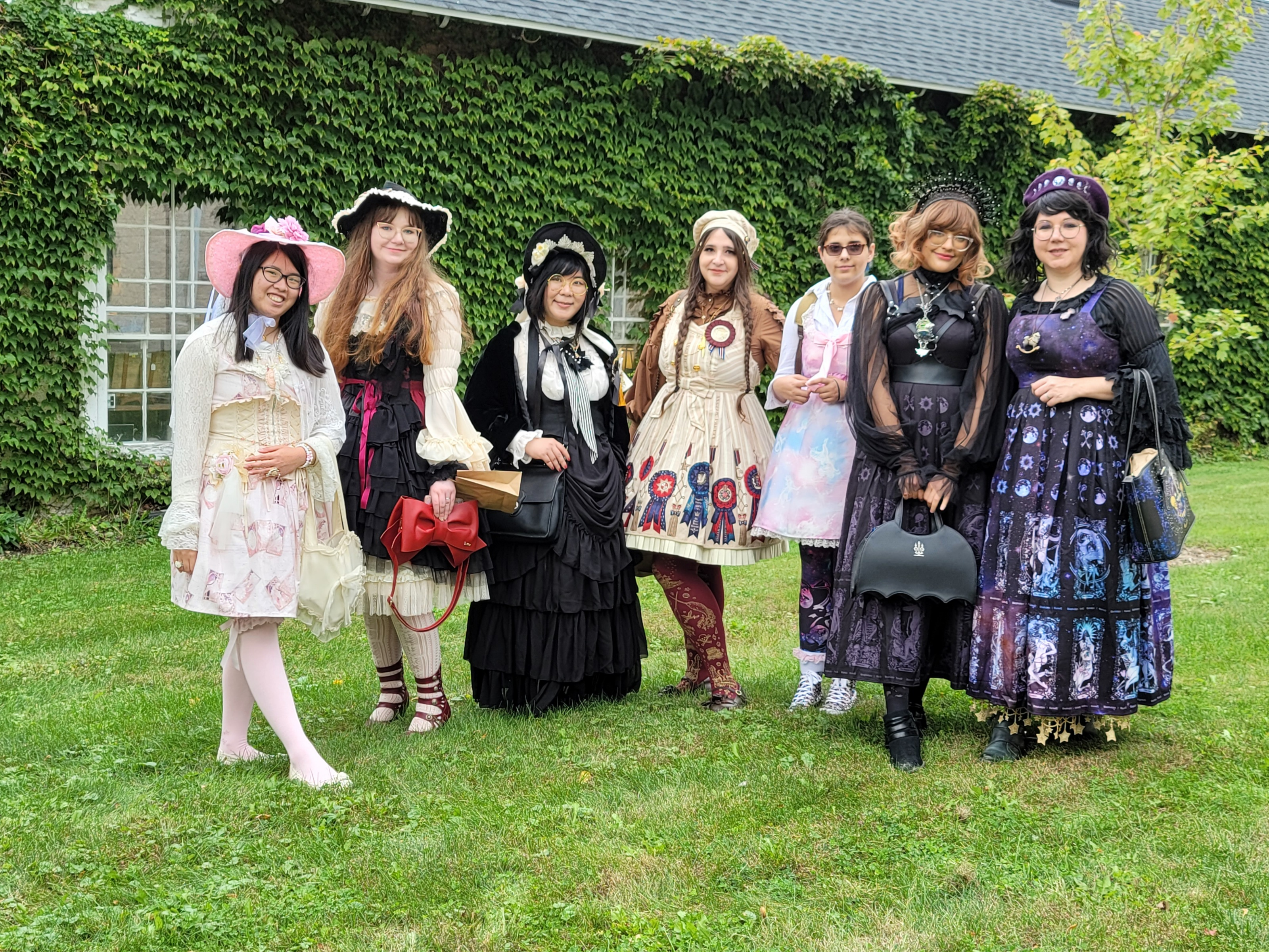 <strong>Several young ladies from Albany on their way to visit the Vanderbilt Mansion in Hyde Park and dressed for the occasion, decided to stop and visit Millbrook first. They are part of the Frilly J-Fasionista's. They enjoyed the music that was part of the Fall in Love with Millbrook event on Saturday, Oct. 9.<em>Photo by Judith O'Hara Balfe</em></strong>