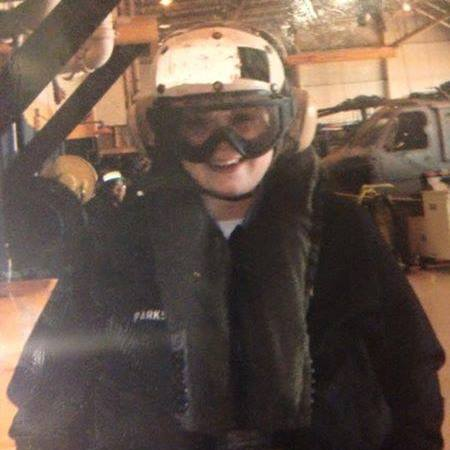 <strong>VFW Post 5444 Commander-Elect Maddie Fletcher geared up in flight gear for a helicopter patrol while stationed at HSC-26 in Norfolk. Va., in 2007. <em>Photo submitted</em></strong>