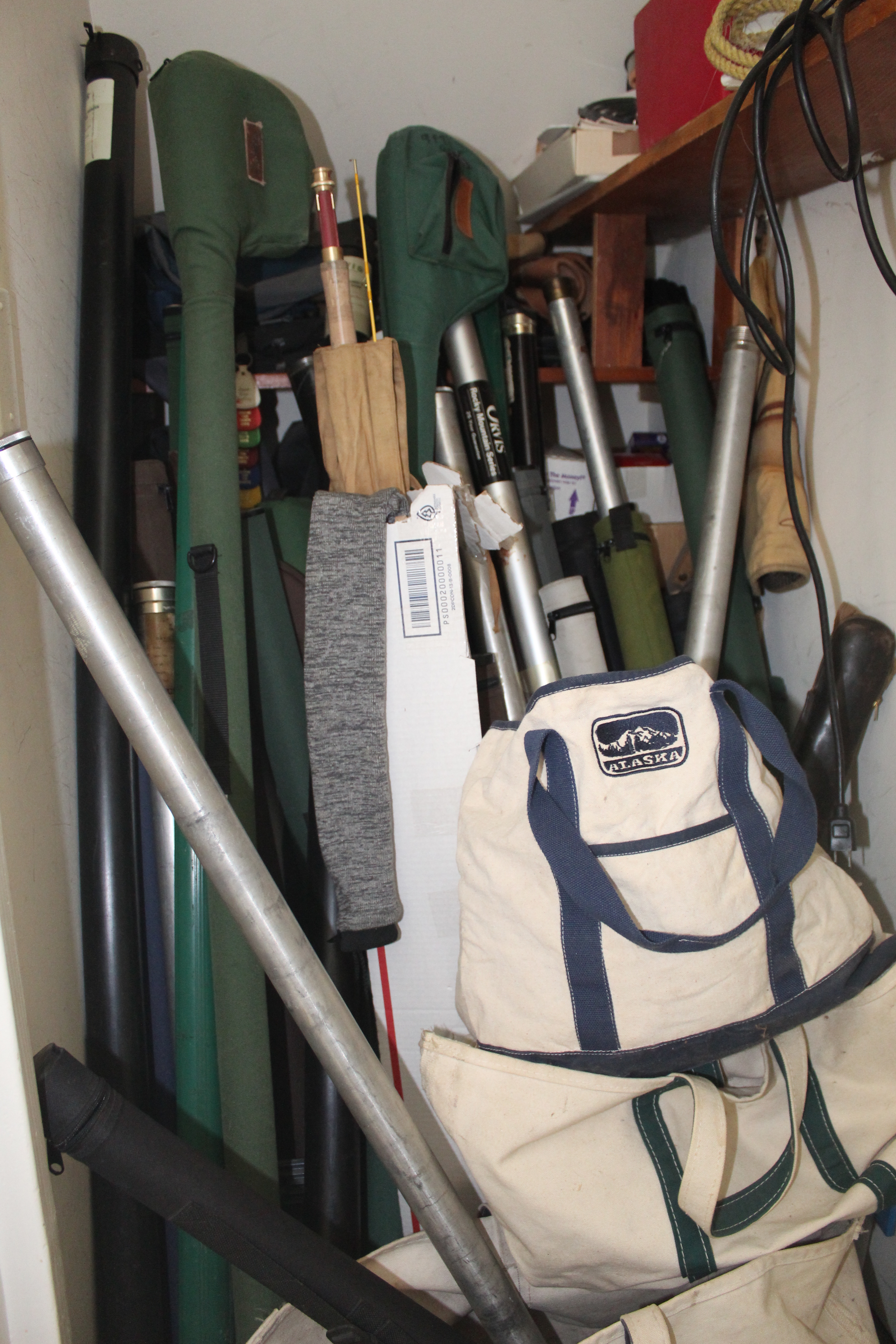 <strong>The Fish Closet in the Sullivan home, in all its glory.<em>Photo by Patrick L. Sullivan</em></strong>