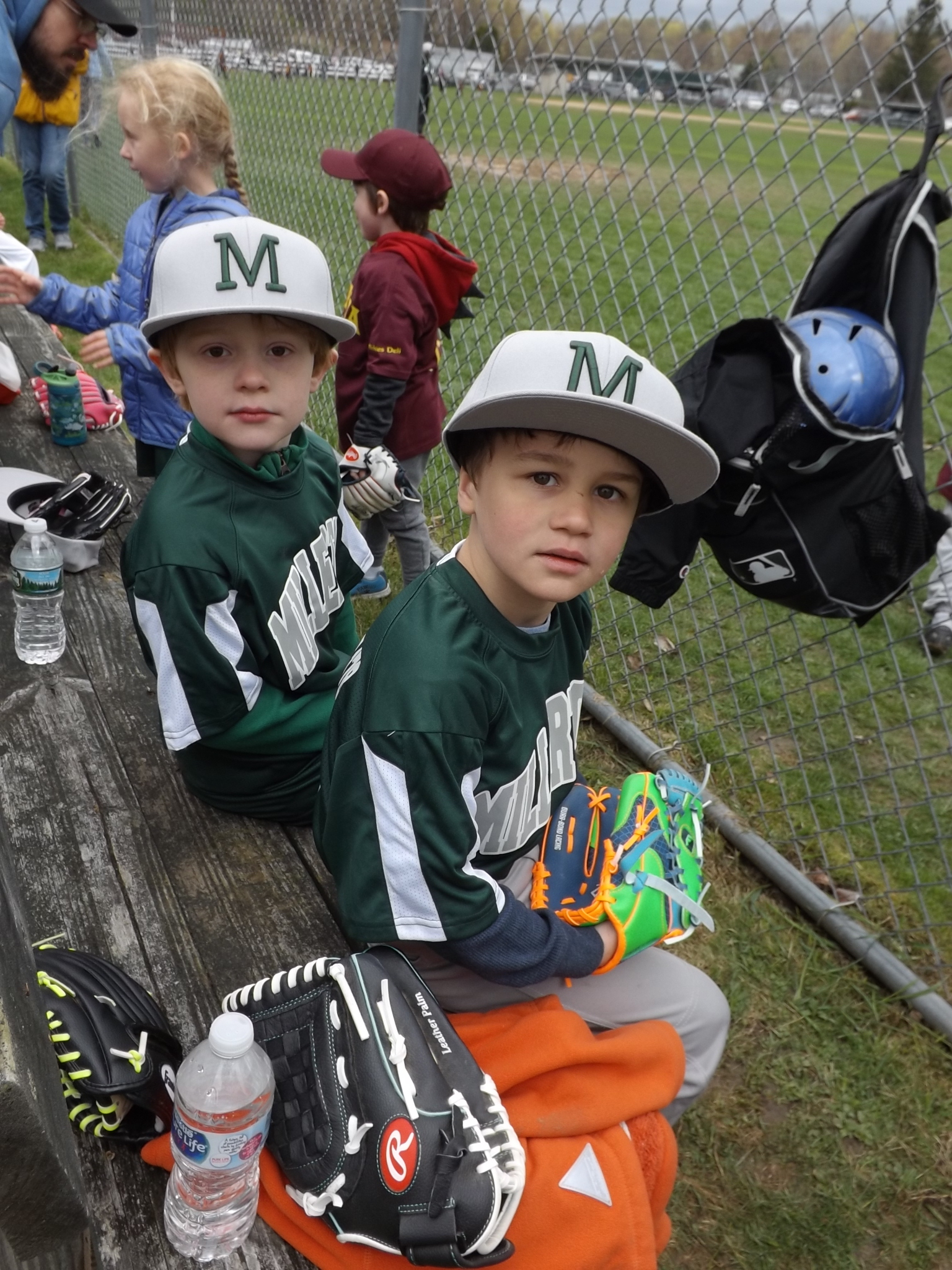 <strong>From left, Millerton T-Ball teammates Christopher Galvin and Hayden Herron watched their team play a game against Amenia during Millerton's 2019 Opening Day of baseball season.<em> Archive photos by Kaitlin Lyle</em></strong>