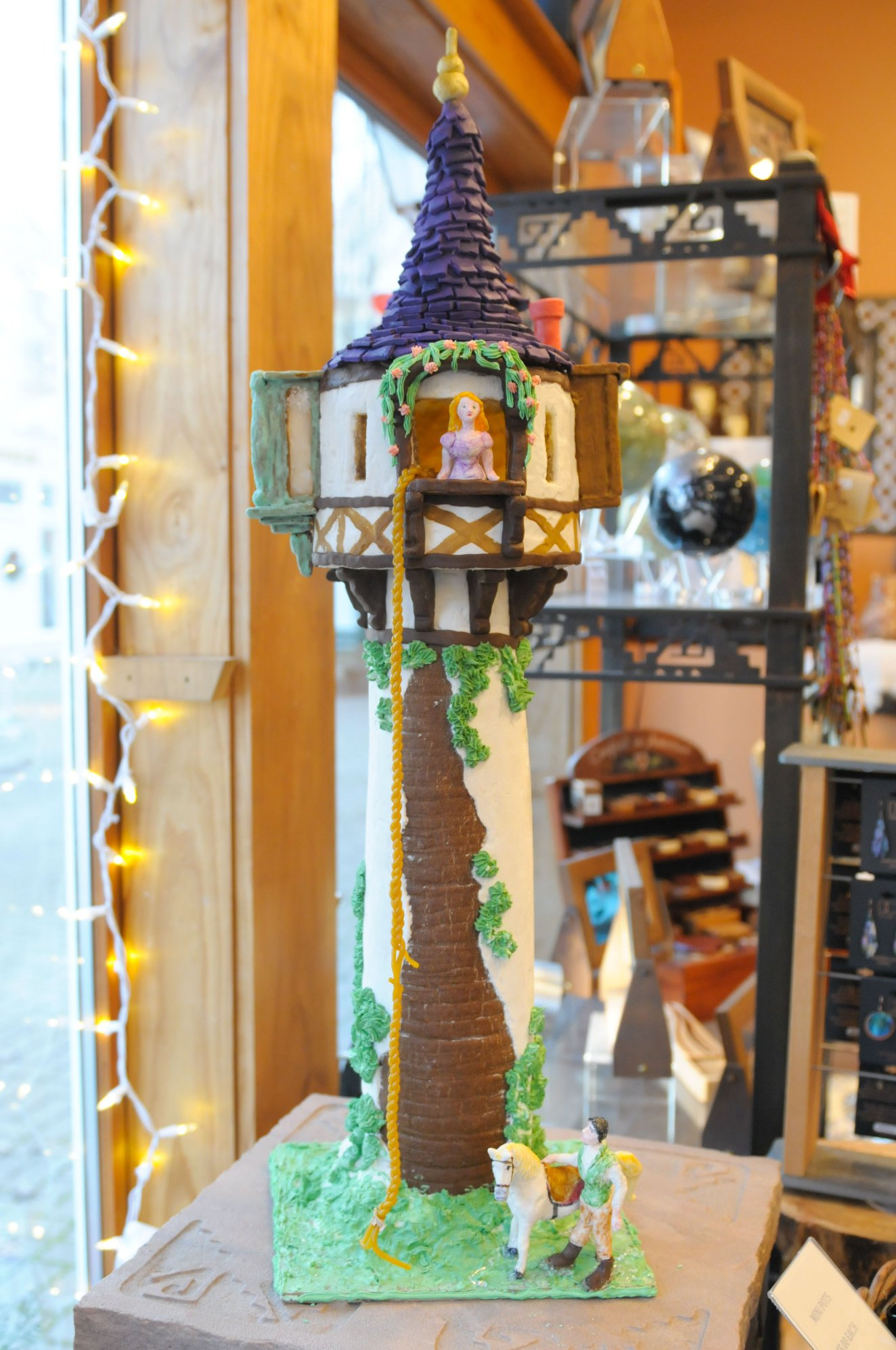 <strong>Rapunzel and her tower were captured in cookies by Sue Hanneman, whose baking and decorating efforts won her second place in the Kent, Conn., Gingerbread Festival.</strong><em><strong>Photo by Melissa Roth Chernisk</strong></em>