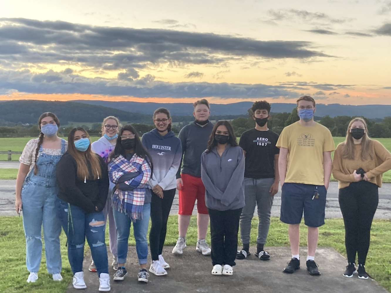 <strong>The Webutuck Class of 2022 gathered for the first-ever Senior Sunrise before classes began on Friday, Sept. 10.<em>Photos submitted.</em></strong>